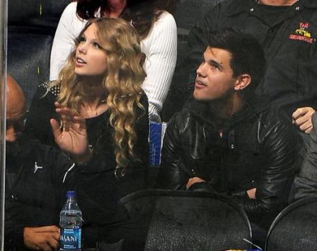 taylor swift and taylor lautner. heartthrob Taylor Lautner